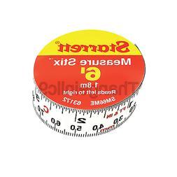 "Starrett SM66ME Adhesive Tape Measure, 3/4"" Width, 6' Length"