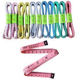 Hibery 12Pcs Soft Measuring Tape, Flexible Tape Measures & S