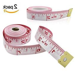 MZD8391 2Pack Body Measuring Ruler Sewing Tailor Tape Measur
