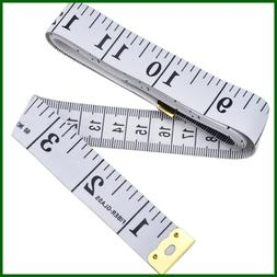 Soft Tape Measure For Sewing Tailor Cloth Ruler WHITE
