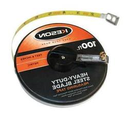 "KESON ST10018M 100 ft./30M Tape Measure, 3/8"" Blade, Orange"