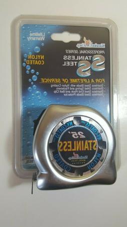 """Komelon USA SS125 1"""" X 25' SS Gripper Stainless Steel W/Rubb"""