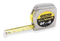 STANLEY Tape Measure,3/4 In x 5m,Chrome,In/Ft/mm, 33-158
