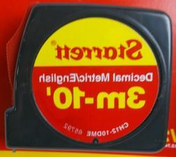 Tape Measure Decimal Metric / English Starrett Tru-Lok 3m-10