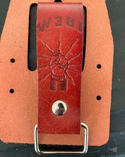 Tape Measure Holder ibew Leather Belt Hip Clip, Drill Holste