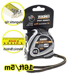 Finder 16ftTape Measure inch/cm Metric,Inches and Sturdy Ret
