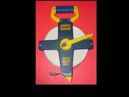 Tape Measure Reel 200' Fiberglass By Keson For Contractors,