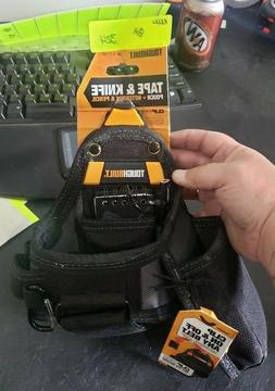 tape measure with utility knife pouch black