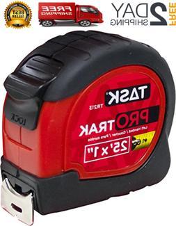 Task Tools TR213 25-Feet ProTrak Tape Measure, Left-Handed,
