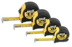 Titan Tools 10902 4-Piece Tape Measure Set