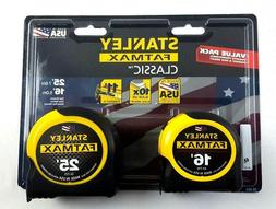 Stanley Tools FatMax Tape Measures 25' & 16' Value Pack 33-7