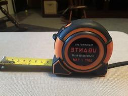 Ubante 25 FT. Tape Measure, Orange and Black