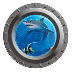 Boodecal Unsersea Series Porthole Fake Window Removable Wall