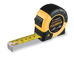 """Komelon W4125IM 25'/7.5m x 1"""" Tape Measure, Yellow/Black"""