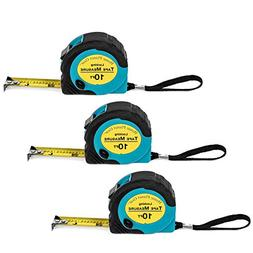 Where's My Tape Measure? - 3 Pack of 10 ft, Locking, Retract