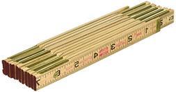 Lufkin X46SLN Wood Rule, 6' Brass Ext, Black