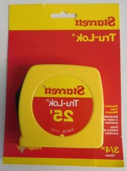 """Starrett Y34-25 3/4"""" x 25' Tru-Lok Precision Yellow Tape Mea"""