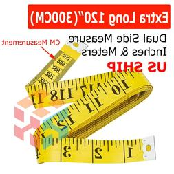 "Yellow 120"" Body Measuring Ruler Sewing Cloth Tailor Tape Me"